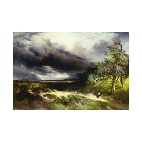 THOMAS MORAN East Hampton, Long Island new CANVAS print various SIZES, BRAND NEW
