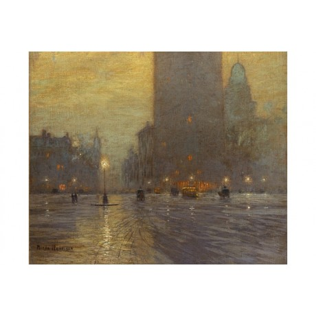 LOWELL BIRGE HARRISON Madison Square new CANVAS print! various SIZES, BRAND NEW