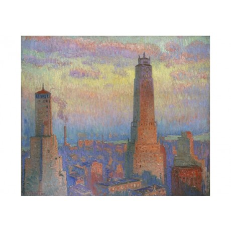 WILLIAM SAMUEL HORTON Ritz Tower, New York new CANVAS! various SIZES, BRAND NEW