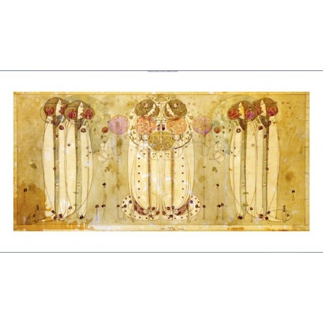 "CHARLES RENNIE MACKINTOSH ""Wassail"" CANVAS ART Print various SIZES available"