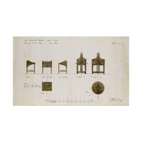 "CHARLES RENNIE MACKINTOSH ""Designs For Writing Desks"" various SIZES, BRAND NEW"