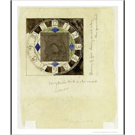 "CHARLES RENNIE MACKINTOSH ""Design For Clock Face"" PRINT various SIZES, BRAND NEW"