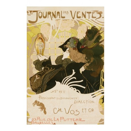 GEORGES DE FEURE Le Journal Des Ventes CANVAS ART PRINT various SIZES, BRAND NEW
