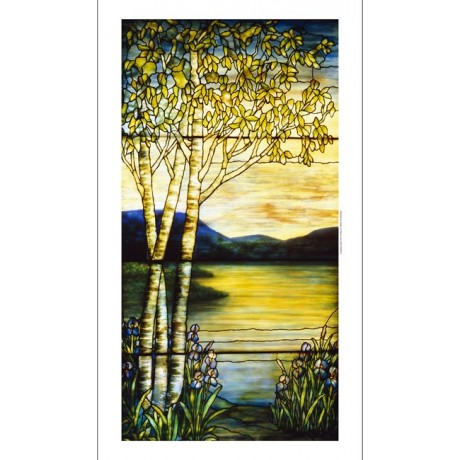 "DECORATIVE CANVAS PRINT ""Tiffany glass window"" choose SIZE, from 55cm up, NEW"