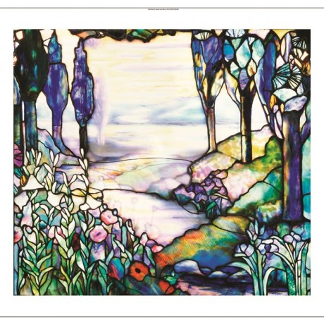 "DECORATIVE CANVAS PRINT ""Stained Glass Window"" NEW choose your SIZE, from 55cm"