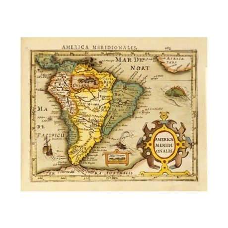 "DECORATIVE CANVAS PRINT ""South America"" NEW choose SIZE, from 55cm upwards, NEW"