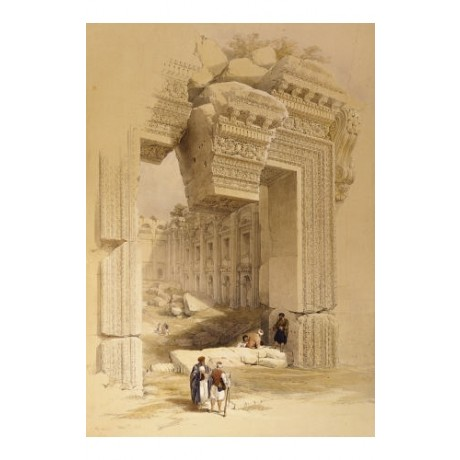"LOUIS HAGUE ""Doorway Of Temple Of Bacchus"" ON CANVAS various SIZES available"