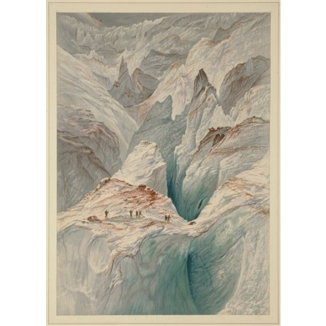 "NEW STRIKING CANVAS PRINT of Walton's ""The GRIVOLA from Col d'Arbole"" mountains"