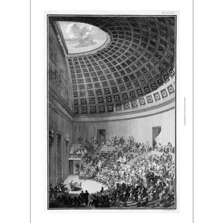 "MODERN CANVAS PRINT of antique engraving ""Schools of Surgery"" lecture GONDOIN"