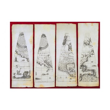 "MODERN CANVAS PRINT of Greuter's 16th century ""Map Of AMERICA"" - see our SHOP!"