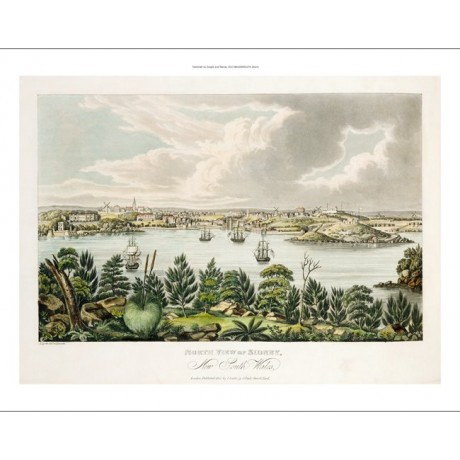 "JOSEPH LYCETT ""North View Of Sidney"" seascape ON CANVAS various SIZES, BRAND NEW"
