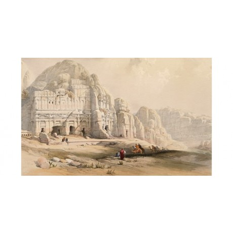 "LOUIS HAGHE ""Petra"" Jordan PRINT New CANVAS choose SIZE, from 55cm upwards, NEW"