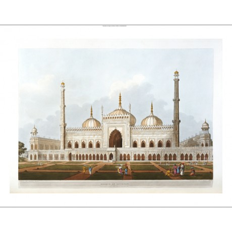 "J. HILL ""Mosque At Lucknow"" CANVAS PRINT see our shop! various SIZES, BRAND NEW"