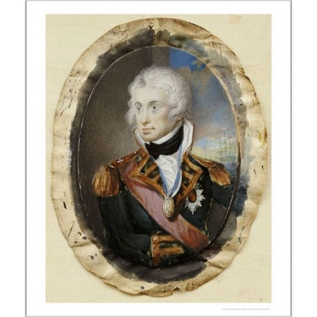 "ENGLISH SCHOOL ""Horatio Nelson"" Military PRINT new choose your SIZE, from 55cm"
