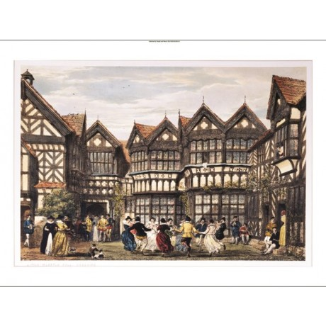 "JOSEPH NASH ""Little Moreton Hall, Cheshire"" ON CANVAS various SIZES, BRAND NEW"