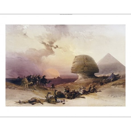 "DAVID ROBERTS ""Approach Of Simoom, Desert Of Gizeh"" NEW various SIZES, BRAND NEW"