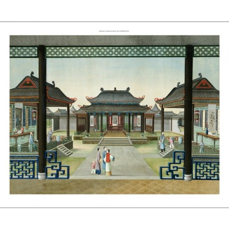 "TINGQUA Courtyard Of Merchant's House In Canton"" PRINT various SIZES, BRAND NEW"