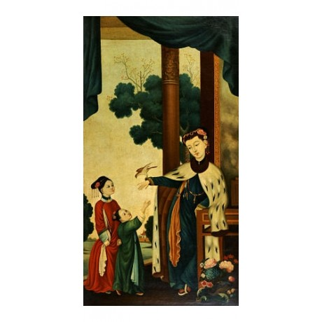 CHINESE SCHOOL Mandarin's Wife with Daughters PRINT New various SIZES, BRAND NEW