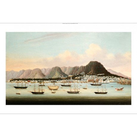 CHINESE SCHOOL View Of Victoria, Hong Kong CANVAS ART various SIZES, BRAND NEW