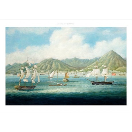 "CHINESE SCHOOL ""View Of Victoria, Hong Kong"" Print choose your SIZE, from 55cm"