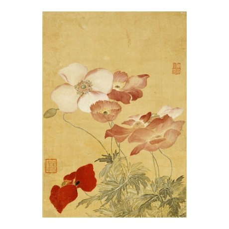 "YUN SHOUPING ""Poppies"" Chinese Art Print NEW choose your SIZE, from 55cm upwards"