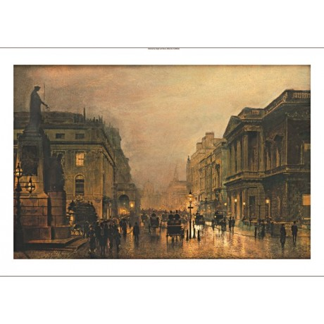 "JOHN ATKINSON GRIMSHAW ""Pall Mall"" CANVAS ART ! choose SIZE, from 55cm up, NEW"