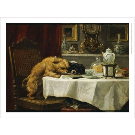 "HENRIETTE RONNER-KNIP ""While Masters Away"" Dog Print various SIZES available"