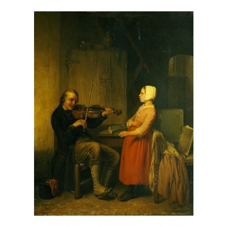 "NAPOLEON FRANCOIS GHESQUIERE ""Fiddler"" Music Art Print various SIZES available"