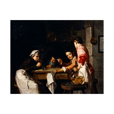"JOSEPH BAIL ""Young Card Players"" NEW, see our shop! various SIZES available, NEW"