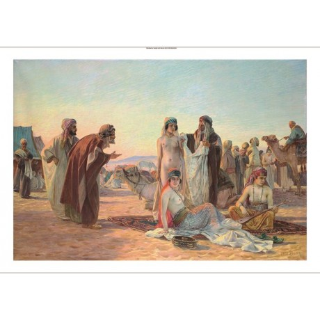 "OTTO PILNY ""The Slave Market"" arab women nude CANVAS various SIZES available"