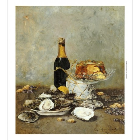 VICTOR MORENHOUT Oysters Champagne CANVAS choose SIZE, from 55cm to X LARGE, NEW