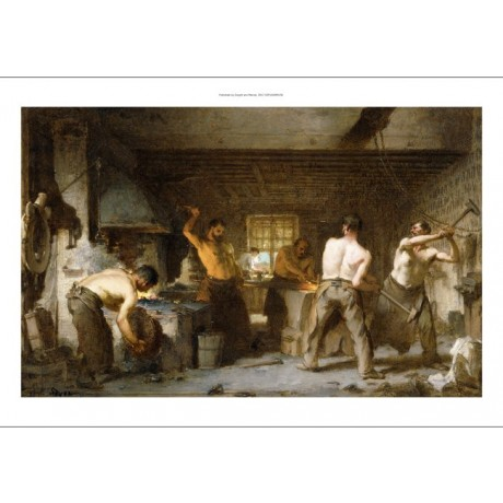 PAUL CONSTANT SOYER The Blacksmith's Forge GLOWING hot strength bare NEW PRINT