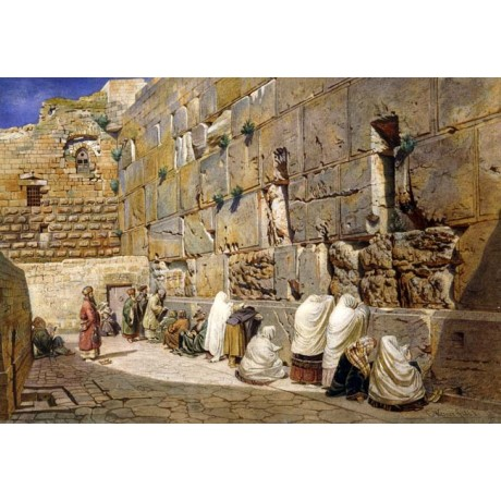 CARL FRIEDRICH HEINRICH WERNER The Wailing Wall, Jerusalem PILGRIMAGE veil NEW