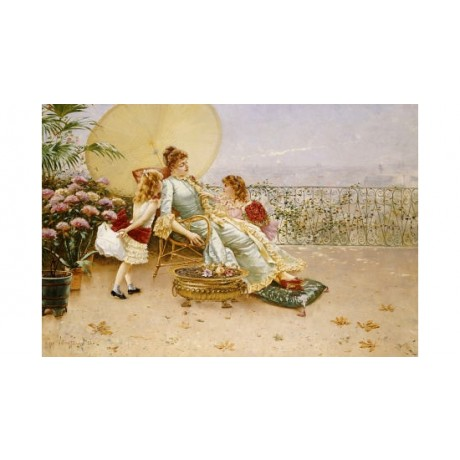 "WILLIAM FERON ""Mother's Day"" print NEW ON CANVAS choose SIZE, from 55cm up, NEW"