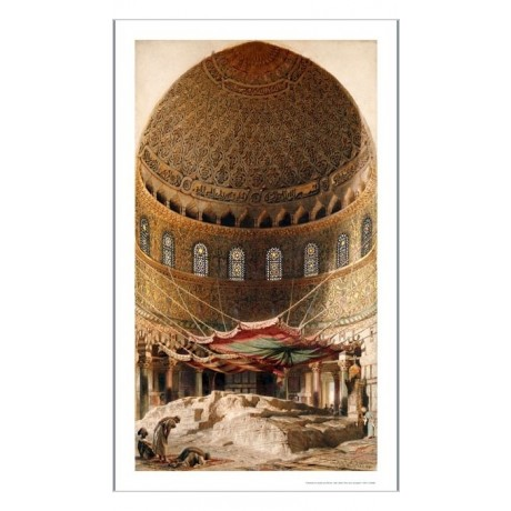 "CARL HAAG ""Holy Rock Jerusalem"" CANVAS ART ! choose SIZE, from 55cm upwards, NEW"