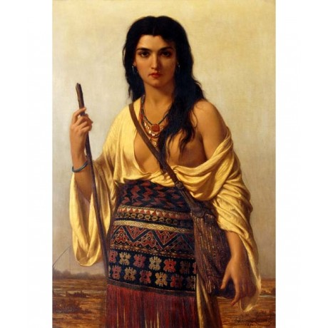 "VERNET-LECOMTE ""Minnehaha"" HIAWATHA breast native american woman CANVAS PRINT"
