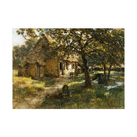 "LEON AUGUSTIN L'HERMITTE ""Chaumiere, Normande"" Print various SIZES available"