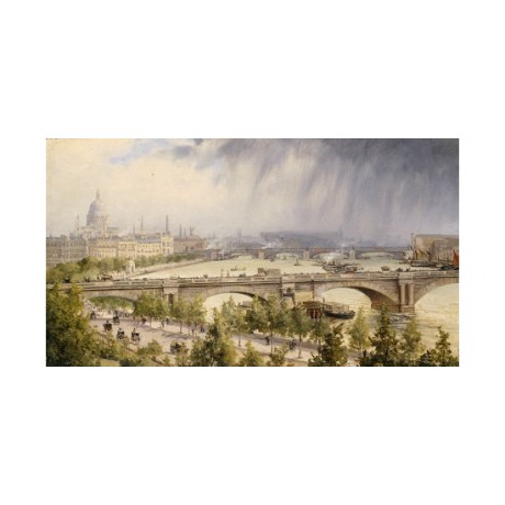 "AUGUSTE BALLIN ""St Paul's From Waterloo Bridge"" print various SIZES, BRAND NEW"