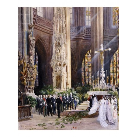 WILHELM RITTER Wedding, Jacobi Church, Nuremberg PRINT various SIZES, BRAND NEW