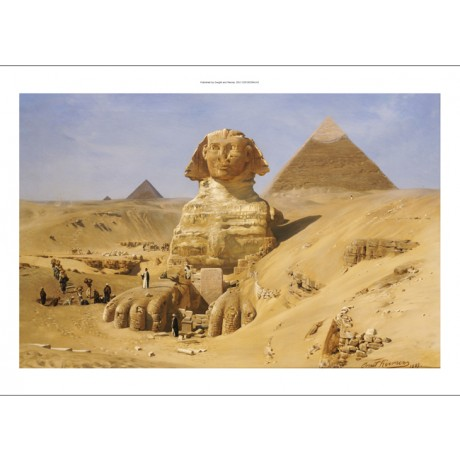 "ERNST KARL EUGEN KOERNER ""Excavation Of Sphinx"" Print various SIZES, BRAND NEW"