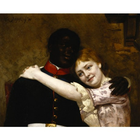 EMIL DOERSTLING Off Duty ROMANCE mixed race couple woman musician CANVAS PRINT