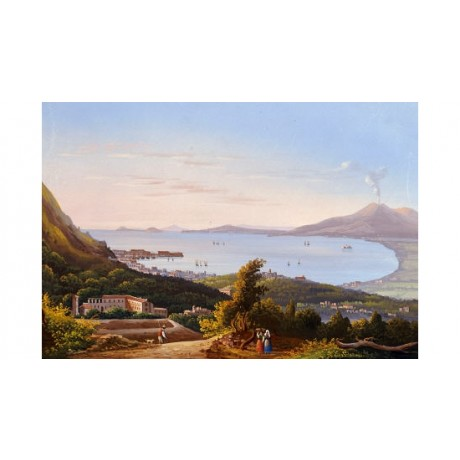 "NEAPOLITAN SCHOOL ""Blue Grotto At Capri"" PRINT NEW choose SIZE, from 55cm up"