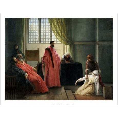FRANCESCO HAYEZ Valenza Gradenigo Inquisition ON CANVAS various SIZES, BRAND NEW