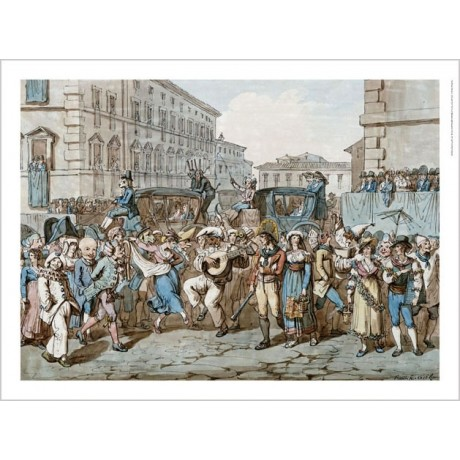 "BARTOLOMEO PINELLI ""Carnevale A Roma II"" CANVAS ART ! various SIZES, BRAND NEW"