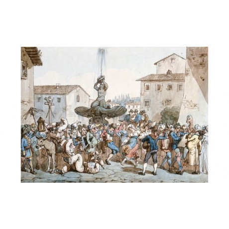 "BARTOLOMEO PINELLI ""Carnevale A Roma I"" CANVAS ART ! various SIZES available"