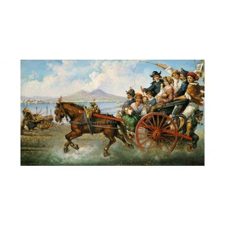 "CONSALVE CARELLI ""Crowded Chariot"" Transport ON CANVAS various SIZES, BRAND NEW"