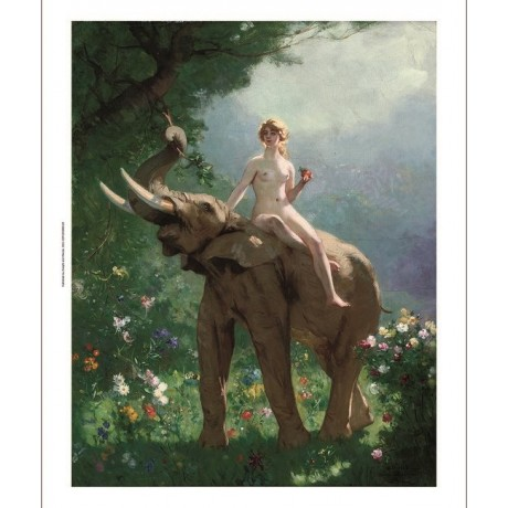 "GUSTAVE SURAND ""Eve dans l'Eden"" nude woman CANVAS choose your SIZE, 55cm up"