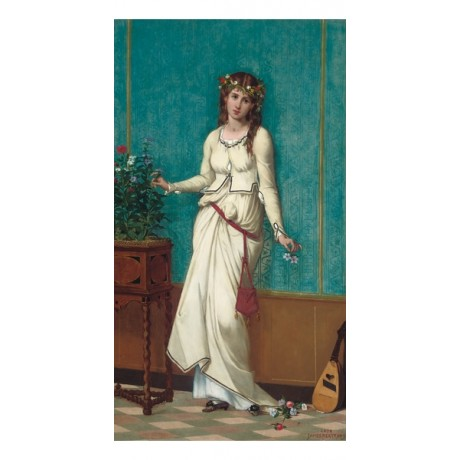 """JAMES BERTRAND """"Ophelia"""" woman portrait CANVAS new choose SIZE, from 55cm up"""