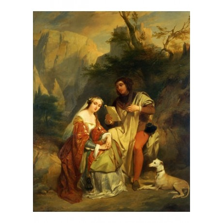 "NICAISE DE KEYSER ""Petrarch And Laura"" CANVAS ART ! various SIZES available, NEW"