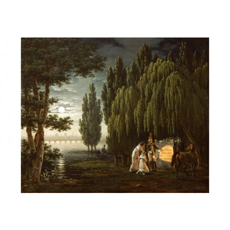 "HORACE VERNET ""At Tomb Of Colonel Monginot"" ON CANVAS various SIZES, BRAND NEW"